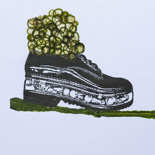 Gurke im Schuh